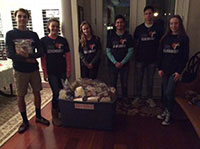 Bags of Hope packed by High School Students and Friends